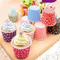 ponto do doce venda por atacado-3500 pçs / lote 50 * 39mm Assorted Doces Muffin Cup Cake Assar bolo copos dot listrado Forros do queque do queque copos de sorvete copo