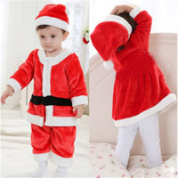 Wholesale dress new year child for sale - Group buy 1 year old Kids boys and girls Christmas Suit and Dress Children Dress Up Santa Claus Kids New Year Clothing Set