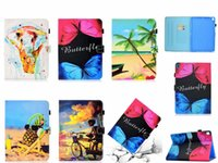 Wholesale folio wallet leather case for sale – best Painting butterfly Elephant panda cat owl tree Filp Stand wallet leather case for ipad pro mini air