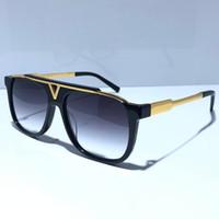 ingrosso laser è aumentato-MASCOTTE classico per occhiali da sole degli uomini popolari del progettista Retro oro lucido Summer Gold Laser Stile placcato UV400 Eyewear prossimo con il caso 0936