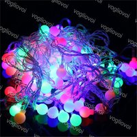 Discount outdoor globe string lights wholesale LED Strings Waterproof 3M 20 Balls Globes Fairy String Lights AC220V EU Plug Party Wedding Christmas Garden Outdoor Decoration DHL