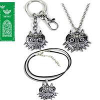 coruja chaveiros venda por atacado-A lenda de Zelda Chaveiro Majoras Máscara Colorido Coruja Animal Pingente KeyChains