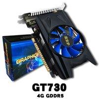 tarjeta de video puerto al por mayor-4GB GDDR5 128Bit PCI Express Tarjeta de video para juegos Tarjeta gráfica Tarjeta de expansión PCI de 128Bit para GT730 con ventiladores más frescos