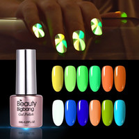 Wholesale vernis ongle gel for sale - Group buy Beautybigbang Noctilucent Vernis Ongle Glow In Dark Polish Fluorescent Neon Nail Polish Green Color Nail Art Poly Gel