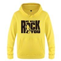 vogue pullover groihandel-Fashion- We Will Rock You Hoodies Männer Frauen Rock-beiläufige Art und Weise Mode-Sweatshirts Pullover