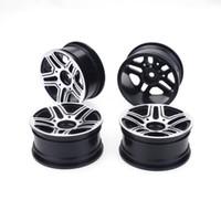Wholesale hpi drift wheels resale online - 4pcs On Road Drift Car MM Aluminum Alloy Metal Wheel Hub Inch Climb Car Wheel Rim For HSP Tamiya HPI Kyosho Sakura B style