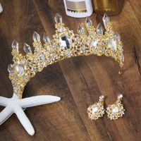 coroa nupcial azul venda por atacado-Strass Azul Coroa Tiara de Cristal Do Vintage De Noiva Tiaras Acessórios Do Casamento Do Partido Deixa Jóias de Prata Aro para o Cabelo CPA3166