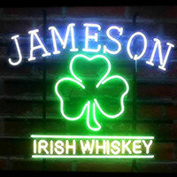 luces de barra de neón irlandés al por mayor-New Star Neon Sign Factory 17X14 pulgadas Real Glass Lámpara de señal de neón para cerveza Bar Pub Garaje Habitación JAMESON IRISH WHISKY.