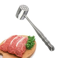 martelo de carne venda por atacado-Alumínio Carne Martelo Cozinhar Ferramenta de Cozinha Acessórios de Cozinha Martelos De Carne Profissional Tenderizer Bife Carne de Porco Frango Martelos DH1248