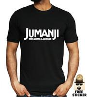 logo de gimnasio unisex al por mayor-Jumanji camiseta del logotipo retro clásico de la película Dwayne Johnson GYM Unisex Top S - XXL