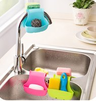 Wholesale tool caddies for sale - Group buy Double Sink Caddy Saddle Style Kitchen Organizer Storage Sponge Holder Rack Tool Drain Basket Rack Home Tools