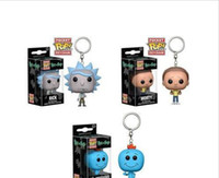 Wholesale low priced toys resale online - Low price Discout Funko Pocket POP Keychain rick and morty Vinyl Figure Keyring with Box Toy Gift Good Quality