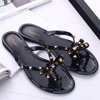 Wholesale New fashion bow sandals Ladies Home Slippers Comfort Sexy Transparent Soft face Ladies Slippers decorated with rivets Freeshipping S0101