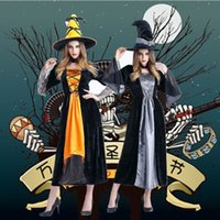 Wholesale Women Designer Costumes Clothing Halloween Horror Witch Cosplay Costume Witch Cosplay Stage Pack Nightclub Theme Party Costume