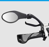 seguridad trasera al por mayor-Espejo retrovisor de bicicleta Hafny Unbreakable Rotatable Safety Back Review Espejo lateral flexible de aluminio inoxidable Envío gratis
