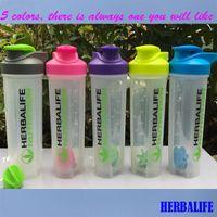 ingrosso scale di bottiglia-New Herbalife Smoothie Bottiglie shaker a tenuta con bilancia da 700ml Blender Cup Hand Coffee Bottle Sport Q190525