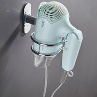 secador de cabelo moda venda por atacado-Aço inoxidável Blower rack liga de alumínio Secador de Cabelo Bracket Titular Banho Commodity prateleira de parede Montada Suporte Moda GGA2716