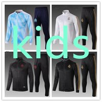 jungen jacken sets groihandel-kids sports jacket soccer track jacket tracksuit set boys football training olympique de marseille Real Madrid Paris enfant  Survetement