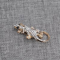 Wholesale selling brooches for sale - Group buy 2019 New fashion lizard shape simple female accessories lizard temperament fashion creative personality crystal Hot Selling brooch