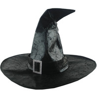 Wholesale leather beanies resale online - Women s Witch Hats Masquerade Wizard Hat Adult Cosplay Costume Accessories Halloween Party Fancy Dress Decor T1P