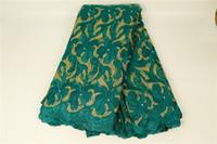 yardas de tela de tul al por mayor-Telas de encaje 5 yardas de tela de encaje francés africano para vestidos de tela de tul árabe