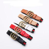 cinturones elásticos para niños al por mayor-Mamá y niños Cinturones de diseño 2019 Moda Pu Cinturones de punto Niños Clásico Aguja Hebilla Cinturones Cinturones de longitud ajustada para adolescentes