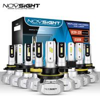 led h4 araba far ampulleri toptan satış-NOVSIGHT 50W 10000LM Otomobil için LED Far H4 Hi / Lo H7 H1 H3 H11 H13 9005 9006 9007 Nighteye 6500K Ampuller Oto Araç Far Kiti
