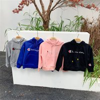 Wholesale embroidery clothes for kids for sale - Group buy Brand Champion Embroidery Letters Kids Cotton Hoodie Pullover Top Boys Girls Sweatshirt For Y Children Designer Autumn Clothing B81202