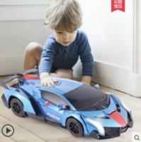 barcos rc cool al por mayor-Bugatti automóvil modelo control remoto transformador coche RC convertible coche juguetes para niños carga inalámbrica niño juguete