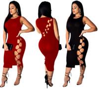 663f8126a5 Wholesale wear pencil skirt clubbing resale online - Womens sexy Dress Midi skirt  Club wear sleeveless