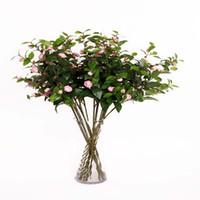 bouquet de thé achat en gros de-thé artificiel rose camélia style européen en soie faux bouquet de fleurs décoration de mariage pour la maison hôtel décor afficher des fleurs 6 couleurs