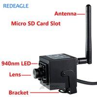 kamera sd ir ip toptan satış-720 P P2P IP Kamera WiFi Kablosuz CCTV Ağ Kayıt Kamera Ile 940nm IR Görünmez Gece Görüş Bellek SD Kart Yuvası