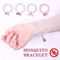 ingrosso catene a mano per bambini-Catene a mano Mosquito Braccialetti protettivi Polsino semplice anti-zanzara Impermeabile Cute Baby Care 4 Style