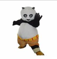 фабричные талисманы оптовых-2019 Factory Outlets панда костюм талисмана хэллоуин забавный медведь животных костюм талисмана взрослый размер