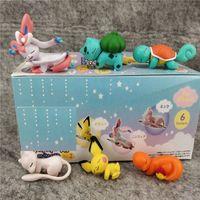 pvc blinds großhandel-6 Styels / Set Japan Anime-Puppe spielt 3cm PVC Action-Figur Puppe Blind Box Cartoon Action-Figur Spielzeug-Kind-Geschenk L563