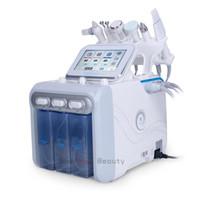 машина для частотной обработки лица оптовых-6 в 1 Hydra Facial Machine Водная дермабразия RF Радиочастота BIO Cold Hammer Ультразвуковой кислородный спрей Спа-машина для лица