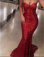 Wholesale sequin chiffon maternity dress resale online - Sexy Bilingbling Prom Dresses Red Sequins Formal Evening Gowns Starpless Sleeveless k17 Girls Christmas Party Gowns