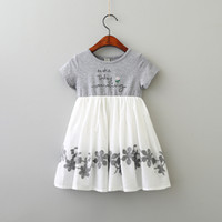 Wholesale fashion baby clothes for sale - Girl Dress Summer Embroidered Dress Cotton Embroidery Fashion Baby Girl Flower Dress Clothing p l