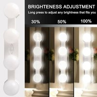 Wholesale 12v led down light white resale online - Wall Lamp LED W Makeup Mirror Vanity Led Light Bulbs Hollywood Style Lamp Touch Switch USB Cosmetic Lighted Dressing table