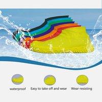 camping zapatos al aire libre al por mayor-1 par de cubrebotas de camping protector elástico elástico antideslizante reutilizable escalada impermeables cubiertas de zapatos senderismo al aire libre de silicona