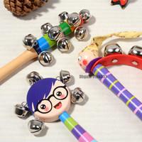 ingrosso giocattoli di sviluppo precoce-Bambino sconcerta i giocattoli appena nati a mano Bells giocattoli del bambino 0-12 Months dentizione sicuro Infant sviluppo precoce educativi del bambino sconcerta i giocattoli