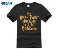 homem na moda venda por atacado-100% Algodão Na Moda T Shirt Top O Colarinho Masculino Camisa de Algodão Curto Harry Tee Niffler T (2) Potter Top