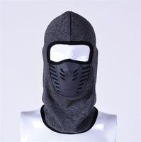 männer gesicht maske winter großhandel-Winter winddicht Gesichtsmaske Helm Mann oder Frau Outdoor Fahrrad Motorrad Jagd Caps Thermal Fleece Hut