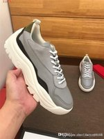 Wholesale small platforms shoes resale online - Mens classic casual leather dad shoes popular versatile platform low top lace up casual sports shoes small white shoes With box