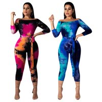 Wholesale spot jumpsuit for sale - Group buy Spot factory real shot ladies fashion explosion models foreign trade Europe and the United States sexy print jumpsuit