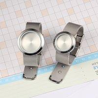316l magnetisches edelstahlarmband großhandel-Freies Edelstahl 25mm / 30mm des Verschiffen-316L magnetisches Schließungs-Silber-sich hin- und herbewegendes Medaillon-Armband mit Ineinander greifen-Armband