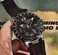 ingrosso orologio di ulysse-2018 Nuovo Ulysse Executive El Toro / Nero Toro Calendario Perpetuo GMT 326-00-3 / BQ Oro rosa Quadrante blu Blu automatico Orologio Uomo Mens UN-17c3