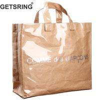 Wholesale two one handbags for sale – best Getsring Women Bag Women Handbags Casual Bag Transparent Kraft Paper Totes Letter Woman Bags Fashion One Shoulder Shopping Bag J190715