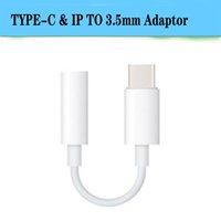 usb c audio großhandel-USB typ c bis 3,5 kopfhörer adapter für iphone 7 bis 3,5mm kopfhörer jack aux audio kabel konverter für xiaomi 6 letv le 2