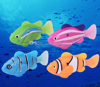 Wholesale electronic robo fish for sale - Group buy Robo Fish Water Activated Battery Powered Robofish kids Clownfish Bath Toys children Robotic Fish Electronic pet drop shipping